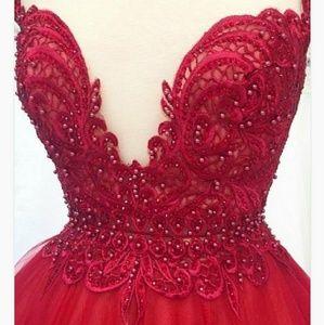 Dresses & Skirts - Illusion bateau organza dress